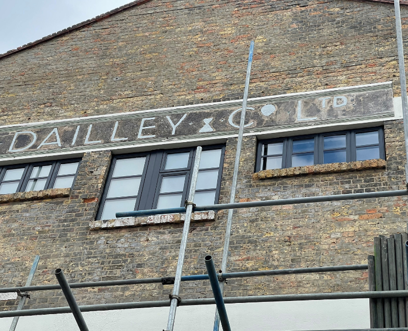 Dailley & Co original signage