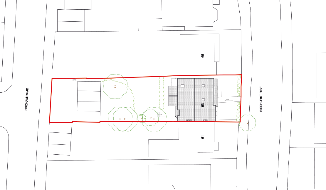 Birdhurst Rise siteplan