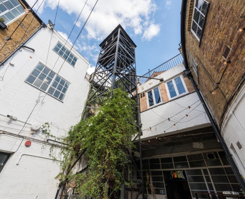 Stamford Works original industrial lift