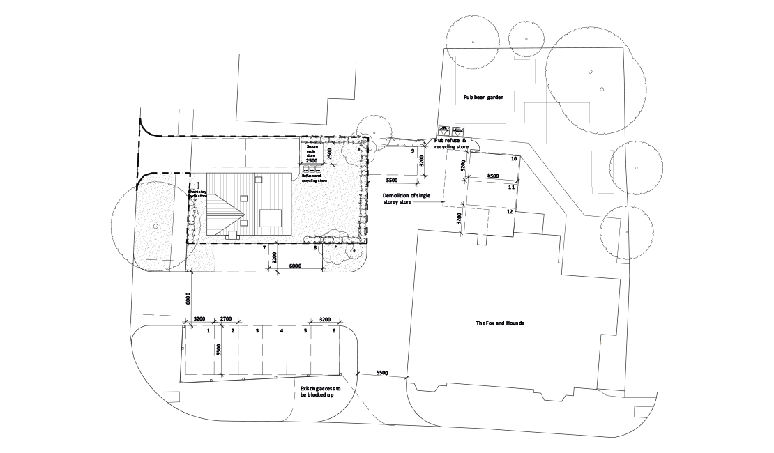 The Fox & Hounds siteplan