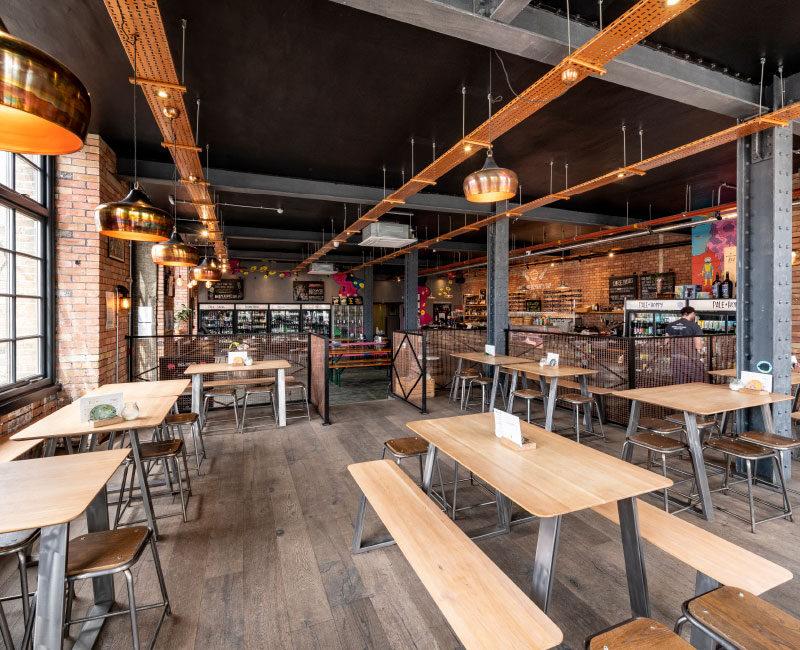Ground Floor Beer Merchants on Tap Seating Area
