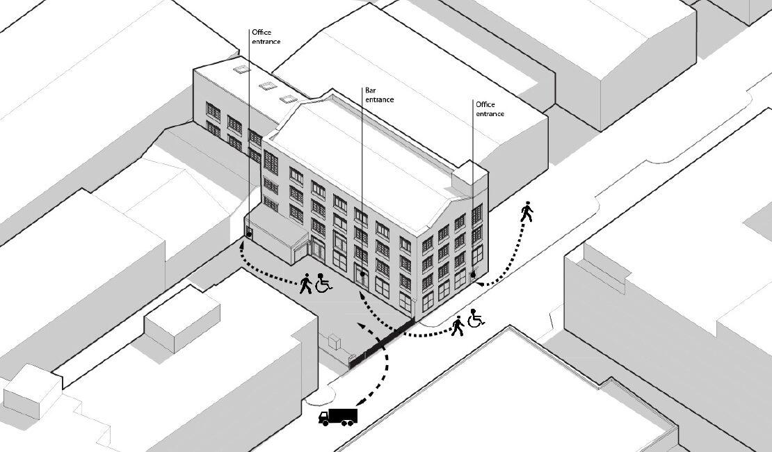 Hackney Wick Warehouse siteplan