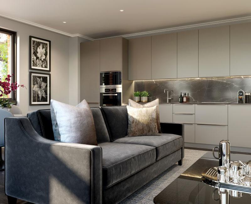 Richardson Mews Kitchen / Living Space