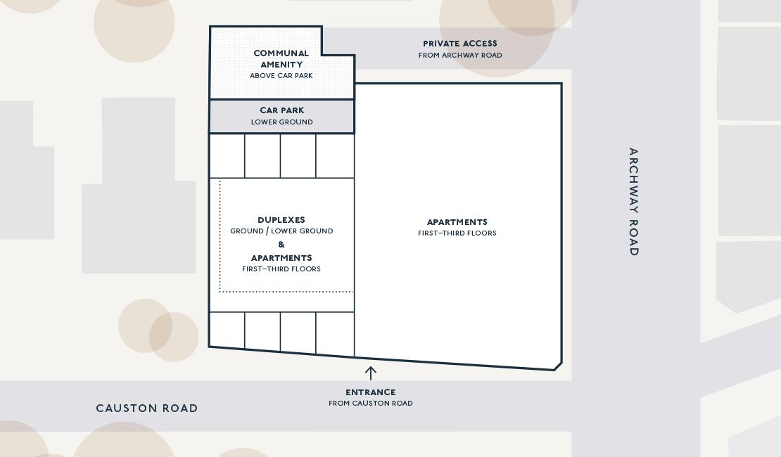 Richardson Mews siteplan