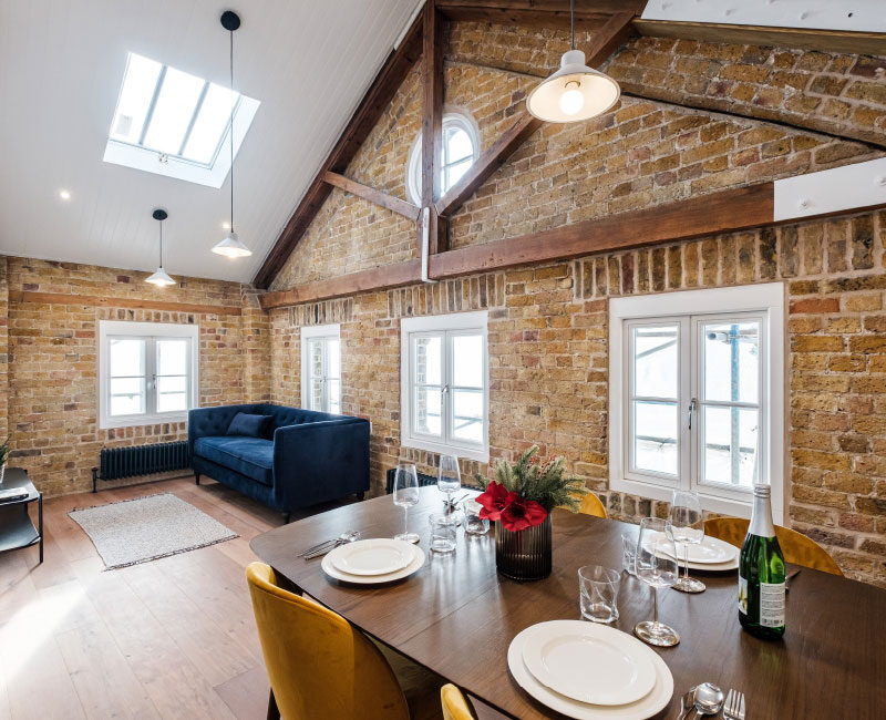 The Old Granary Show Flat Interior