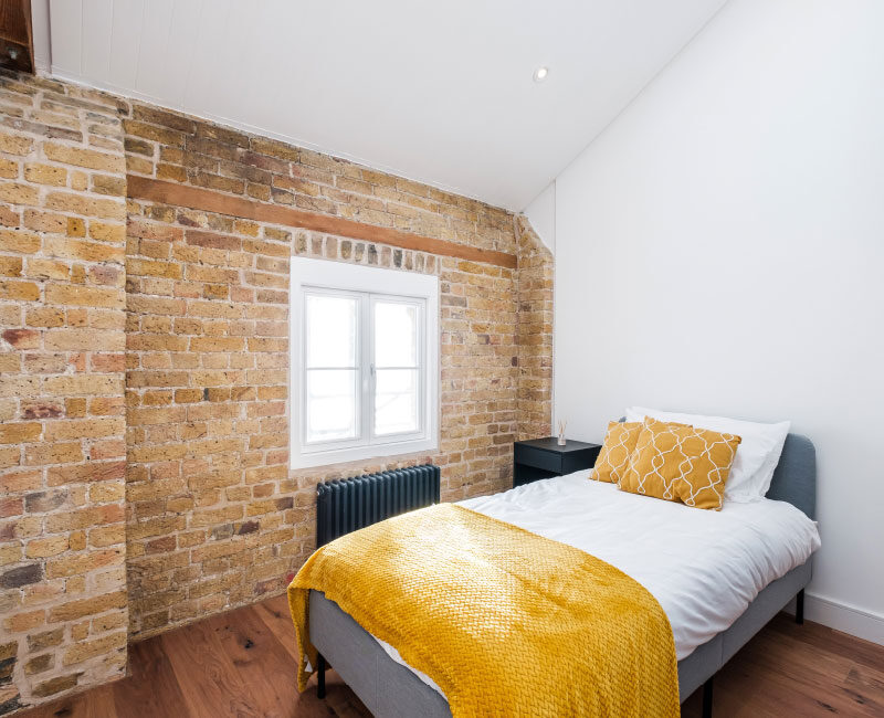 The Old Granary Show Flat Bedroom