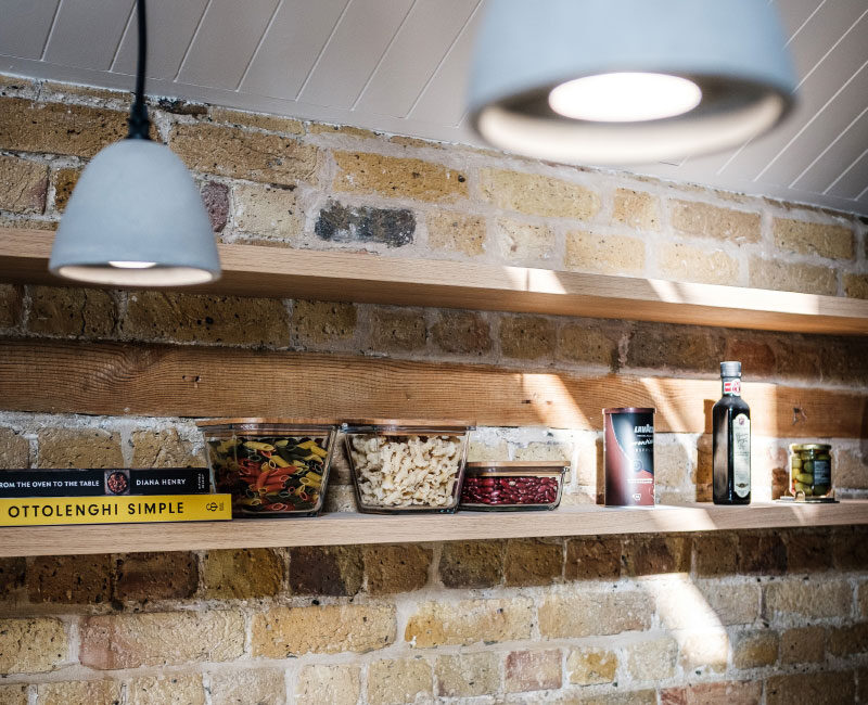 The Old Granary Show Flat Kitchen Shelving