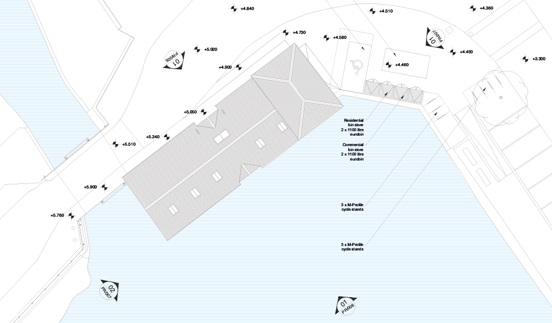 The Old Granary siteplan