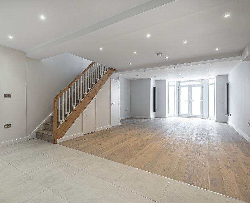 Manchester Road Ground Floor / Basement Flat Living Space